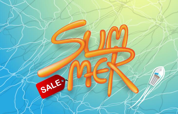 Summer sale poster vector template 07