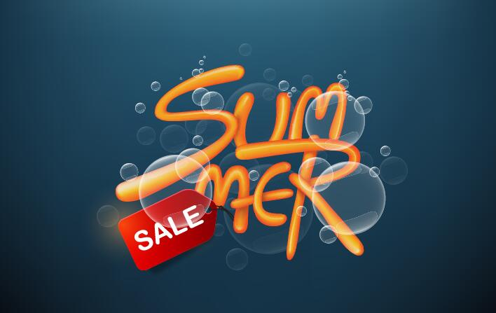 Summer sale poster vector template 09
