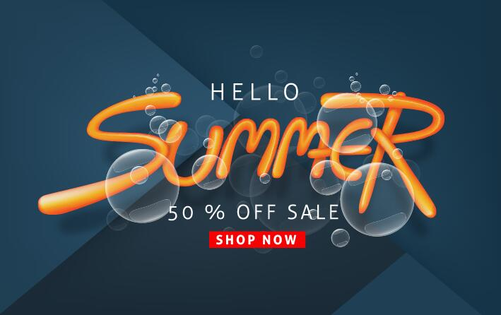 Summer sale poster vector template 10
