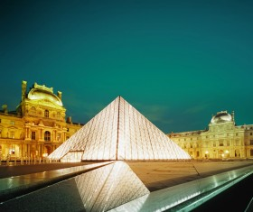 The Louvre in Paris France Stock Photo