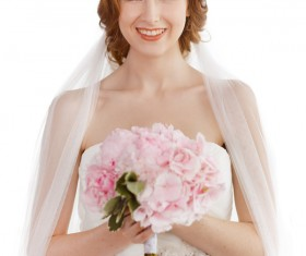 The beautiful bride holds the bouquet Stock Photo 03