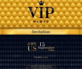 VIP luxury background template vectors 03