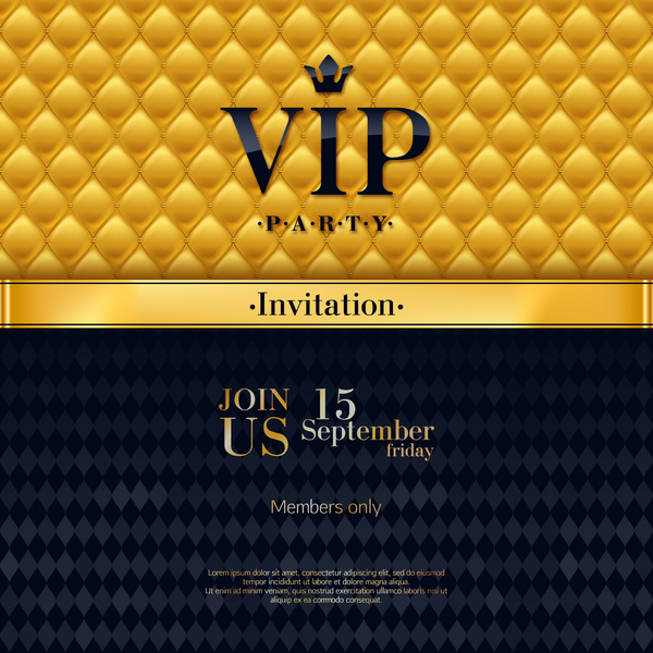 VIP luxury background template vectors 03