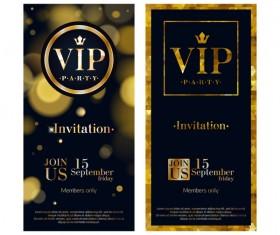 VIP vertical banner design vectors 01