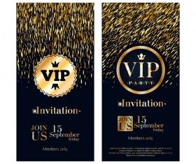 VIP vertical banner design vectors 04