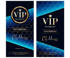 VIP vertical banner design vectors 05