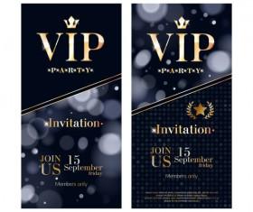 VIP vertical banner design vectors 07