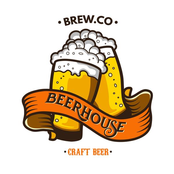 Vector beer label design material