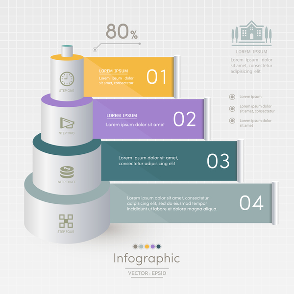 Vector option infographic template material 04
