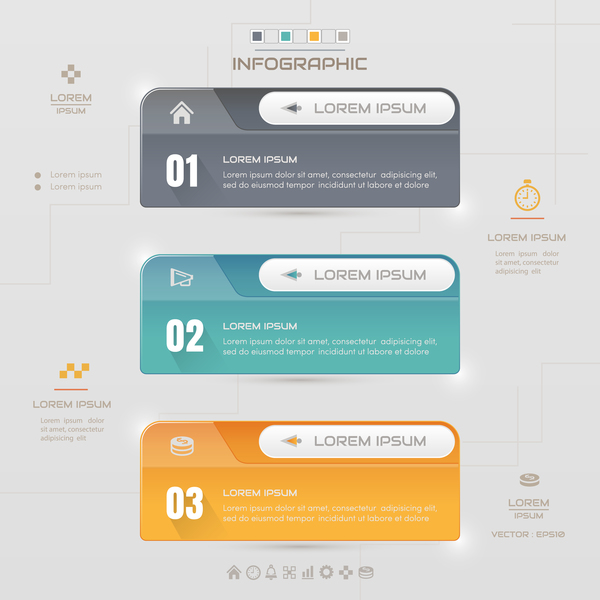 Vector option infographic template material 08