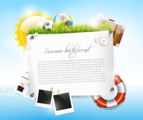 Vector travel background with summer holiday elements 01