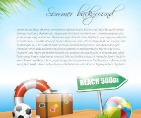 Vector travel background with summer holiday elements 02