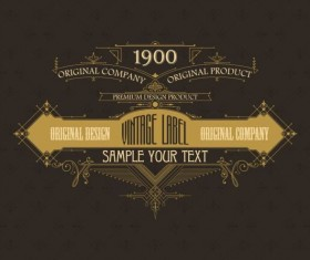 Vintage labels classical styles vectors set 15