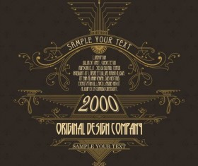 Vintage labels classical styles vectors set 16