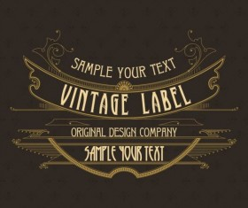 Vintage labels classical styles vectors set 18