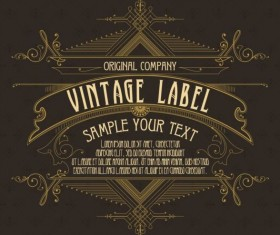 Vintage labels classical styles vectors set 20