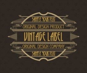 Vintage labels classical styles vectors set 23