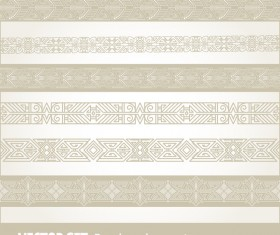 Vintage ornaments borders design set 01