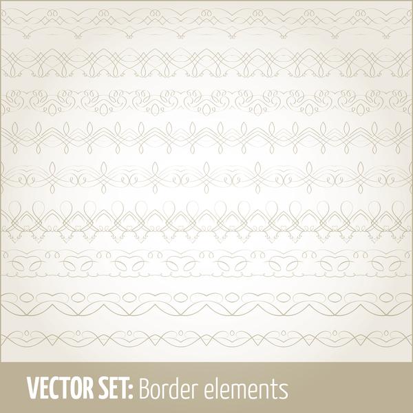 Vintage ornaments borders design set 14