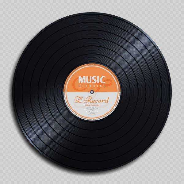 Vinyl record music vector material design