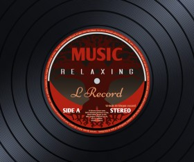 Vinyl record with music background vector
