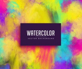 Watercolor art background vector material 02