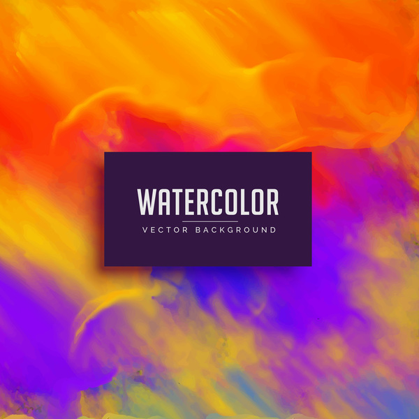 Watercolor art background vector material 04