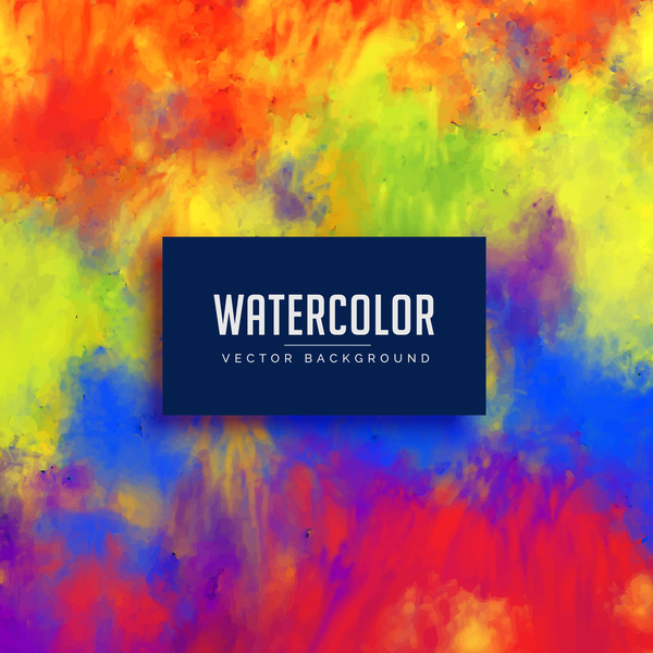 Watercolor art background vector material 07