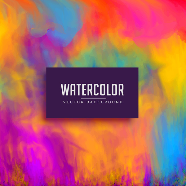 Watercolor art background vector material 08