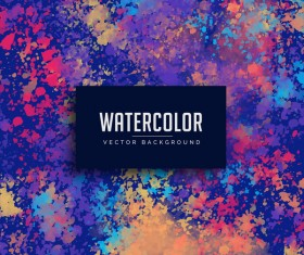 Watercolor art background vector material 09