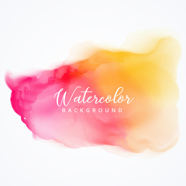 Watercolor with stains vector background 01