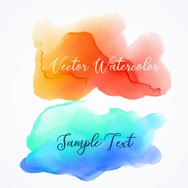 Watercolor with stains vector background 02