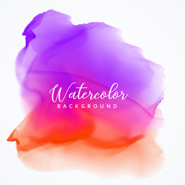 Watercolor with stains vector background 06