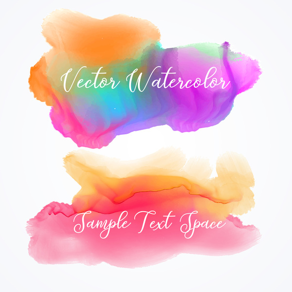 Watercolor with stains vector background 08