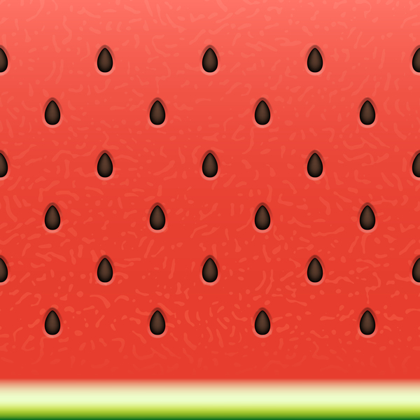 Ripe watermelon seamless pattern vector 02