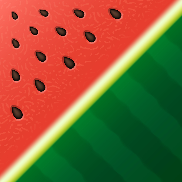 Watermelon background design vector 04