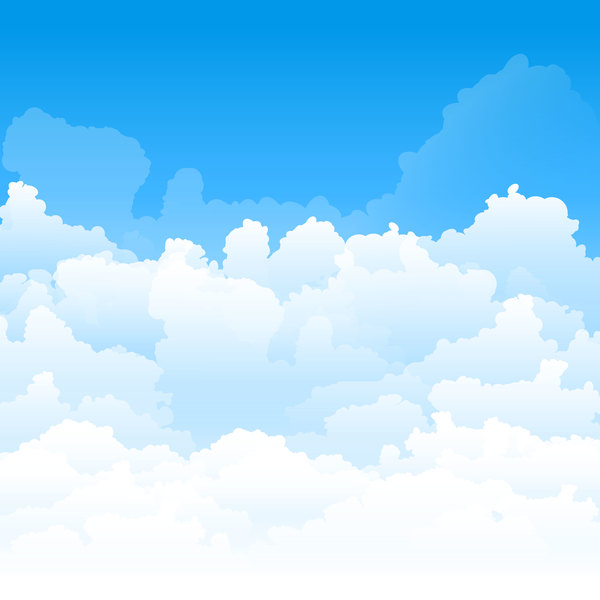 White clouds with blue sky vector background 01