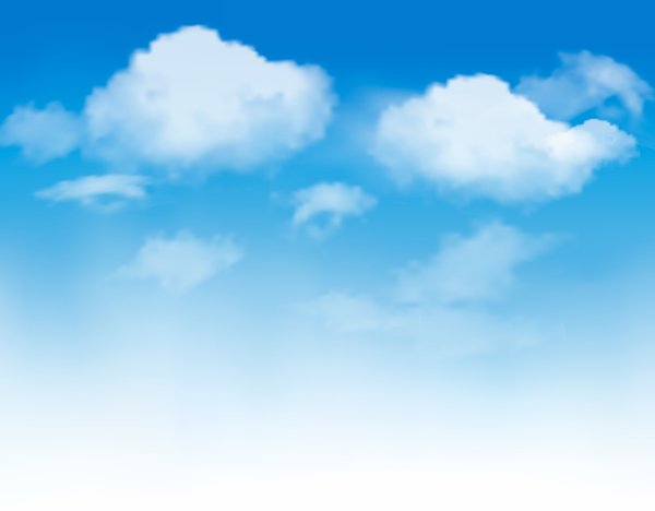 White clouds with blue sky vector background 03