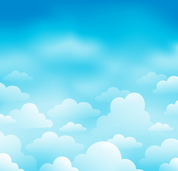 White clouds with blue sky vector background 04