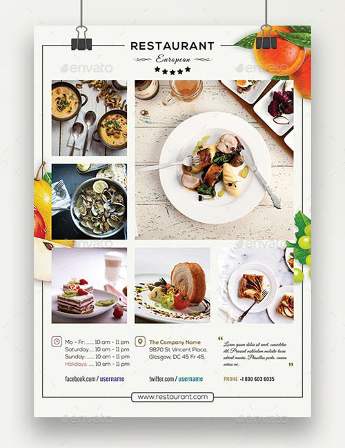 White styles business flyer psd template