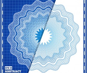 White with blue background with mesh pattern vector 01