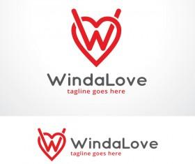 Winda Love logo vector