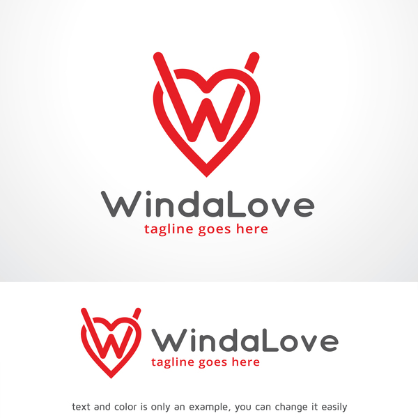 Winda Love logo vector