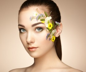Woman face decals HD picture 03