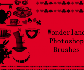 Wonderland Photoshop Brushes