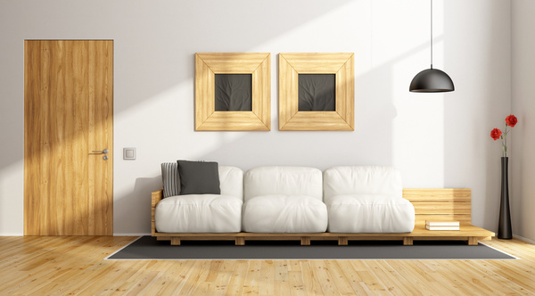 Wooden Simple Living Room Stock Photo Interiors Stock Photo Free Download