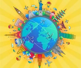 World travel design template vector