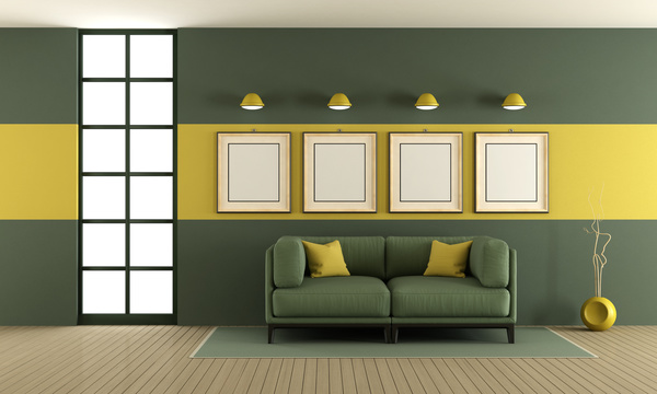 Yellow Light Green Tone Living Room Stock Photo Free Download