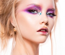 Young female model eye makeup HD picture 03