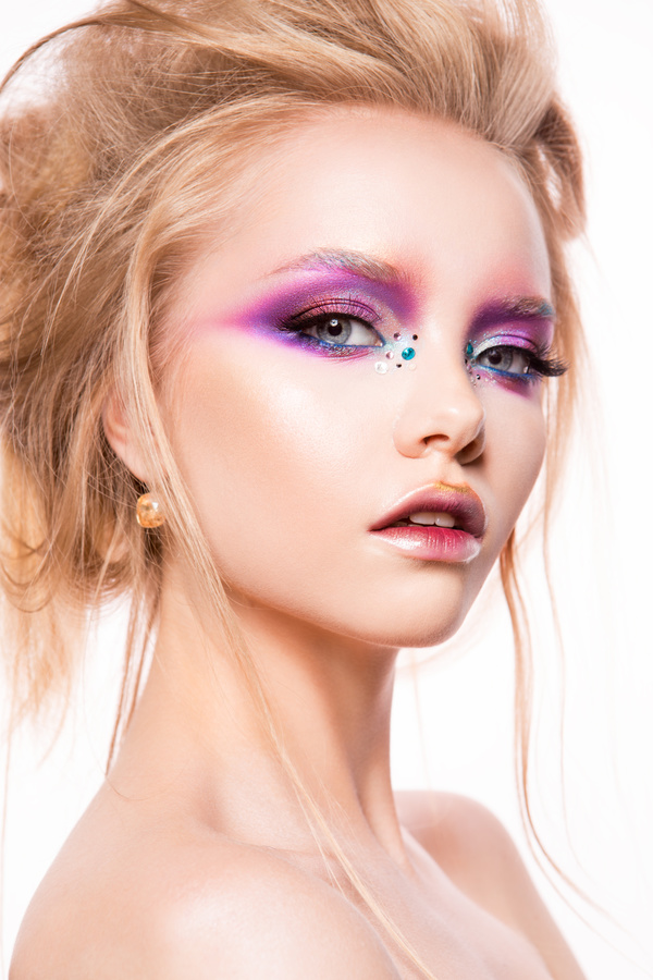 Young Female Model Eye Makeup HD Picture 03 Free Download